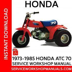1973–1987 Honda ATC 70 Service Workshop Manual