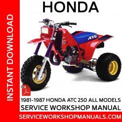1981-1987 Honda ATC 250 All Models Service Workshop Manuals