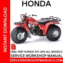 1982-1987 Honda ATC 200 All Models Service Workshop Manual