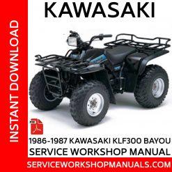 1986-1987 Kawasaki KLF300 Bayou Service Workshop Manual