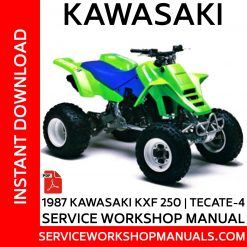 1987 Kawasaki KXF 250 Tecate-4 Service Workshop Manual