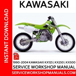 1990-2004 Kawasaki KX125-KX250-KX500 Service Workshop Manual