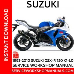 1993-2010 Suzuki GSX-R 750 K1-L0 Service Workshop Manual