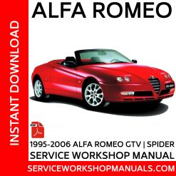 Alfa Romeo GTV Spider 1.8 Twin Spark TSpark 2.0 Twin Spark Tspark 2.0 JTS 2.0 V6 TB 3.0 V6 24V Turbo Service Workshop Manual