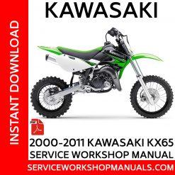 2000-2011 Kawasaki KX65 Service Workshop Manual