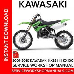 2001-2010 Kawasaki KX85 | II | KX100 Service Workshop Manual