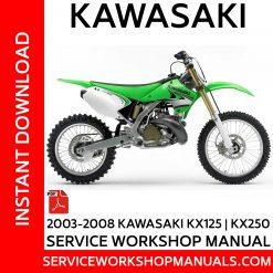 2003-2008 Kawasaki KX125 | KX250 Service Workshop Manual