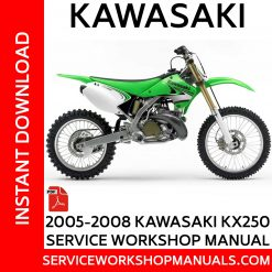 2005-2008 Kawasaki KX250 Service Workshop Manual