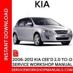 2006-2012 KIA C'eed 2.0 TCI-D Service Workshop Manual