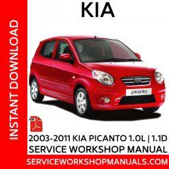 2003 - 2011 KIA Picanto 1.0L | 1.1D Service Workshop Manual