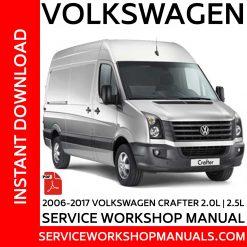 2006-2017 Volkswagen Crafter 2.0L 2.5L Service Workshop Manual