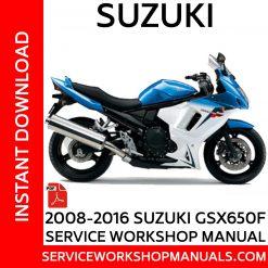2008-2016 Suzuki GSX650F Service Workshop Manual