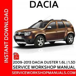 2009-2013 Dacia Duster 1.5D | 1.6L Service Workshop Manual