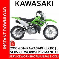 2010-2014 Kawasaki KLX110 | L Service Workshop Manual