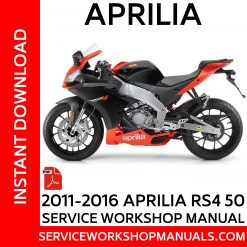 2011-2016 Aprilia RS4 50 Service Workshop Manual