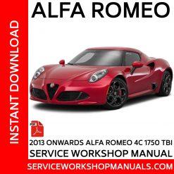 Alfa Romeo 4C 1750 TBI Service Workshop Manual