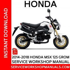 2014-2018 Honda MSX 125 Grom Service Workshop Manual