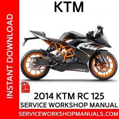 2014 KTM RC 125 Service Workshop Manual