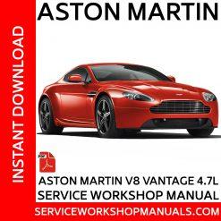 Aston Martin V8 Vantage 4.7L Service Workshop Manual