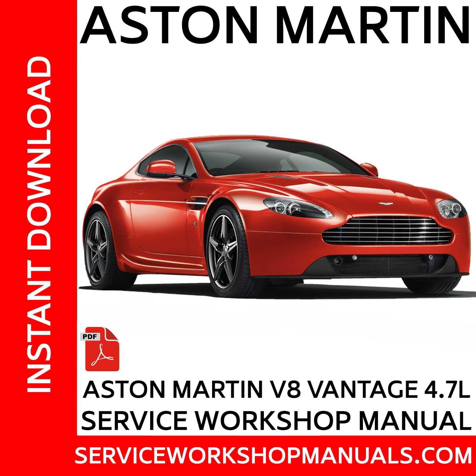 Aston Martin V8 Vantage 4 7l Service Workshop Manual Service Workshop Manuals
