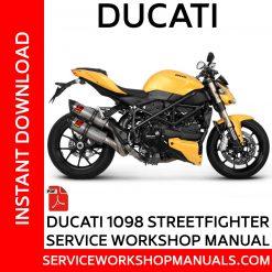 Ducati 1098 Streetfighter Service Workshop Manual