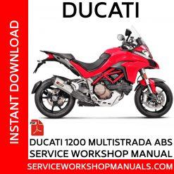 Ducati 1200 Multistrada ABS Service Workshop Manual