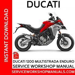 Ducati 1200 Multistrada Enduro Service Workshop Manual