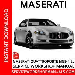 Maserati Quattroporte M139 4.2L Service Workshop Manual
