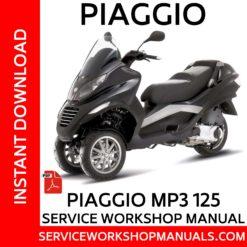 Piaggio MP3 125 Service Workshop Manual