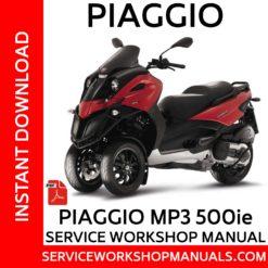 Piaggio MP3 500ie Service Workshop Manual