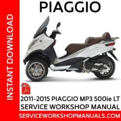 Piaggio-MP3 500ie LT 2011-2015 Service Workshop Manual