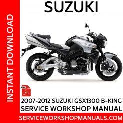 Suzuki GSX 1300 B-King 2007-2012 Service Workshop Manual