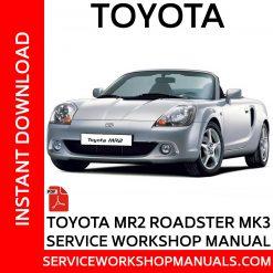 Toyota MR2 Roadster MK3 Service Workshop Manual