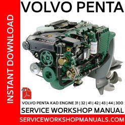 Volvo Penta Engine KAD TAMD KAMD 31 32 41 42 43 44 300 Workshop Service Repair Manual