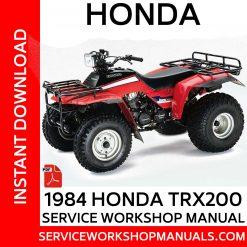 1984 Honda TRX200 Service Workshop Manual