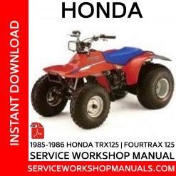 1985-1986 Honda TRX125   Fourtrax 125 Service Workshop Manual
