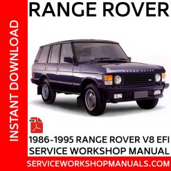 1986-1995 Range Rover Classic V8 EFI Service Workshop Manual