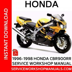 1996-1998 Honda CBR900RR Service Workshop Manual