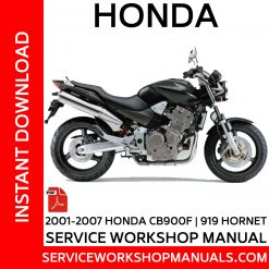 2001-2007 Honda CB900F | 919 Hornet Service Workshop Manual