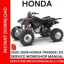 2005-2009 Honda TRX400X   EX Service Workshop Manual