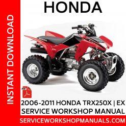 2006-2011 Honda TRX250X   EX Service Workshop Manual