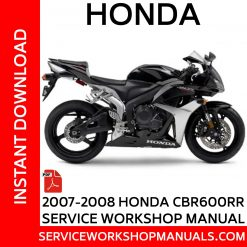 2007-2008 Honda CBR600RR Service Workshop Manual