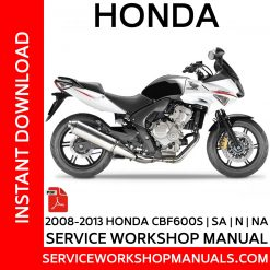 2008-2013 Honda CBF600S | SA | N | NA Service Workshop Manual