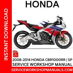 2008-2014 Honda CBR1000RR | SP Service Workshop Manual