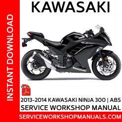 2013-2014 Kawasaki Ninja 300-ABS Service Workshop Manual