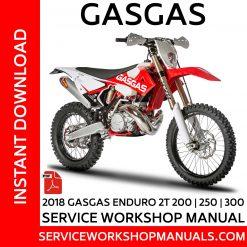 GasGas Enduro 2T 200, 250, 300 Service Workshop Manual 2018