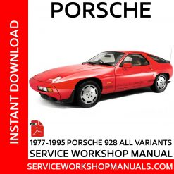 Porsche 928 Service Workshop Manual 1977-1995
