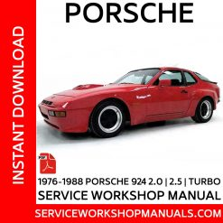 Porsche 924 2.0, 2.5, Turbo Workshop Service manual 1976-1988
