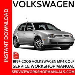 Volkswagen Golf MK4 1997-2006 Service Workshop Manual