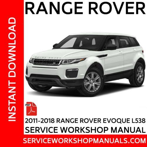 Range Rover Evoque L538 2011-2018 Service Workshop Manual